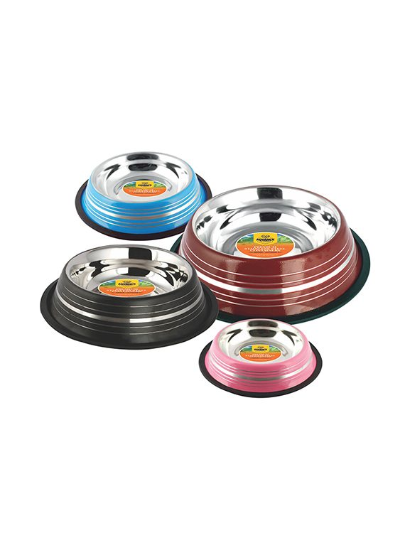 Colored Stainless Steel Non-Skid Bowl