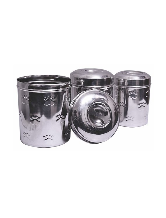 Embossed Pet-Treat Canisters (Set of 3)